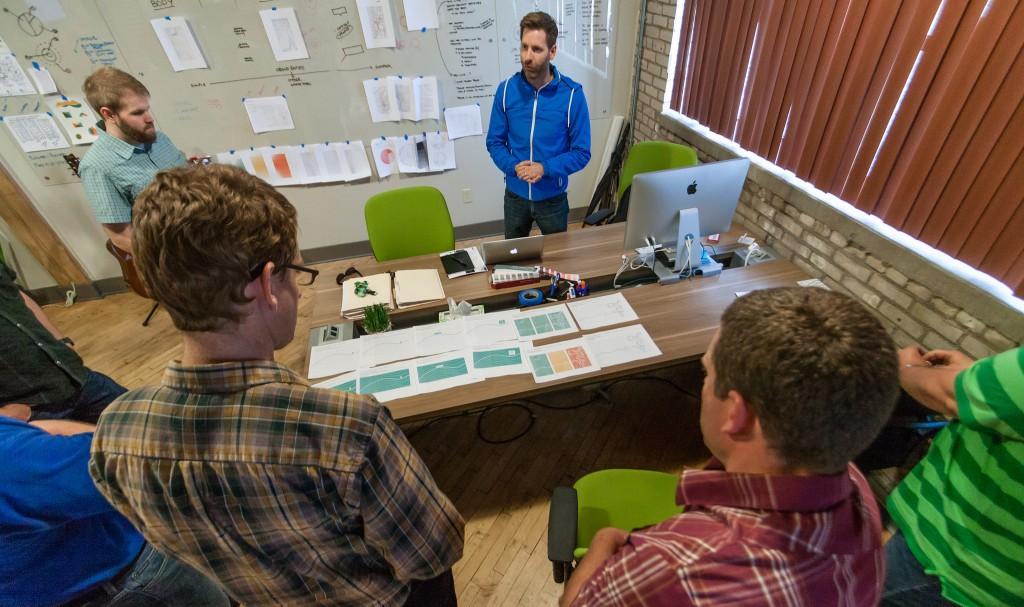 Design Meeting. Photo by Paul Hart.